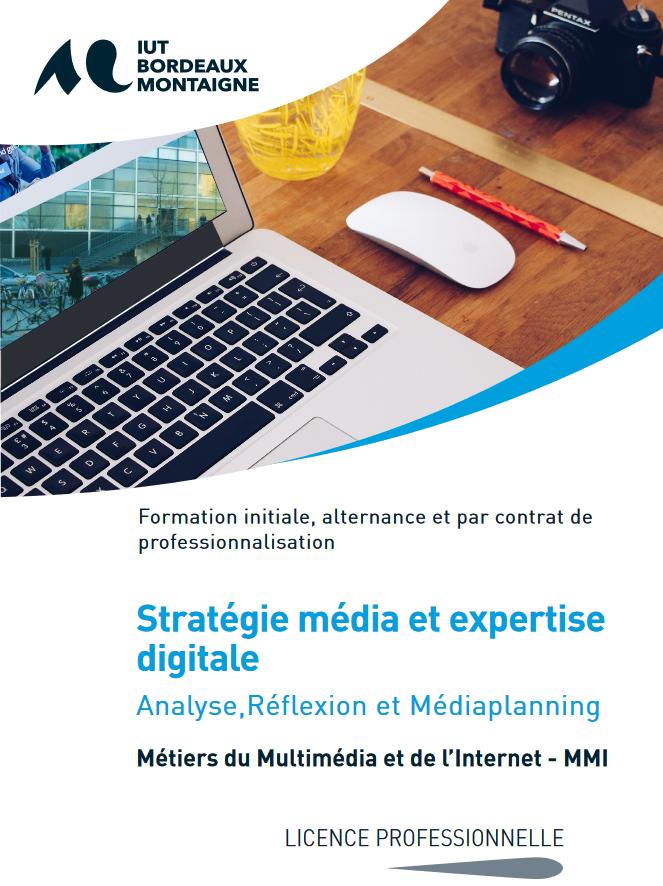"""Prévisualisation de la plaquette """"Licence Professionnelle Stratégie Média et Expertise Digitale"""""""